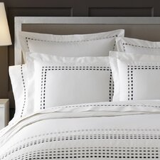 <strong>Kassatex Fine Linens</strong> Letto Tribeka Bedding Sham in White / Stone (Set of 2)