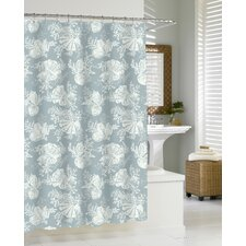 <strong>Kassatex Fine Linens</strong> Shells - Cortina Cotton Shower Curtain