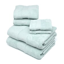 Elegance 6 Piece Towel Set in Seafoam