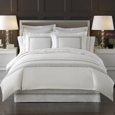 Letto Tribeka Bedding Sheet Set in White / Stone