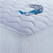 100% Cotton Waterproof Mattress Pad with Antimicrobial Fill