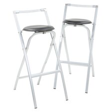 Folding Stool-G29 Folding Barstool (Set of 2)