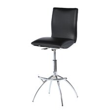 "25.98"" Adjustable Swivel Bar Stool with Cushion"