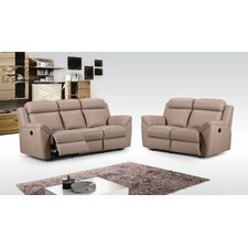 Spencer Recliner Sofa and Leather Love Seat