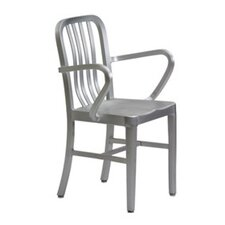 <strong>New Spec Inc</strong> Argent Stacking Dining Arm Chairs (Set of 4)