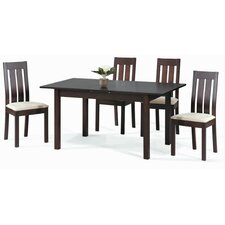 <strong>New Spec Inc</strong> Cafe-32 Simple 5 Piece Dining Set