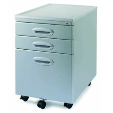 <strong>New Spec Inc</strong> MP-01 Mobile File Cabinet with Two Drawers in Light Grey