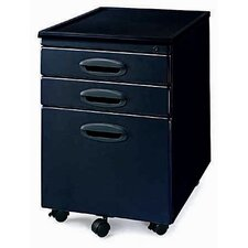 <strong>New Spec Inc</strong> MP-01 Mobile File Cabinet with Two Drawers in Black