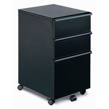 MP-03 Mobile File Cabinet with Three Drawers in Black