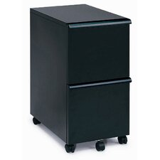 <strong>New Spec Inc</strong> MP-05 Mobile Double File Cabinet in Black