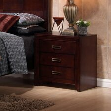 Otago 3 Drawer Nightstand