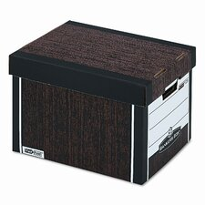 R-Kive Max Storage Box, Letter/Legal, 12 x 15 x 10, Woodgrain, 4/Ctn