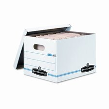 Stor/File Box w/Lid & Handle, Ltr/Lgl, 12 x 15 x 10, WE/Blue, 12/Ctn