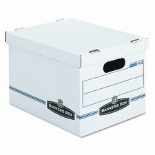 <strong>Bankers Box®</strong> Stor/File Box w/Handles, Letter/Lgl, 12 x 15 x 10, WE/Blue, 4/Carton