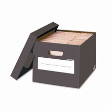 Stor/File Decorative Storage Boxes, Letter/Legal, 12 x 15 x 10, Brown, 4/CT