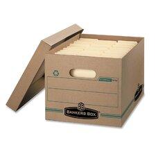 Stor/File Box w/Lid, Ltr/Lgl, Paper, 12 x 15 x 10, Kraft, 12/Carton