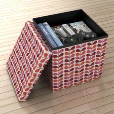 Warm Flower Storage Ottoman (Set of 2)