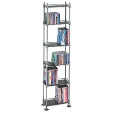 150 CD or 85 DVD 6-Tier Adjustable Multimedia Storage Rack