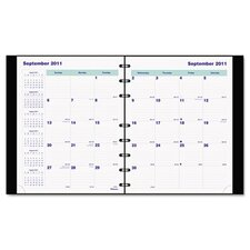 <strong>Blueline®</strong> MiracleBind 17-Month Planner, Soft Cover, 9-1/4 x 7-1/4, Black