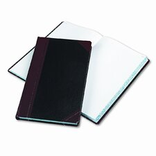 Record/Account Book, Black/Red Cover, 300 Pages, 14-1/8 x 8-5/8, 2012