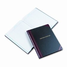 Visitor Register Book, BLK/RD Hardcover, 150 Pgs, 14-1/8 x 10-7/8, 2012