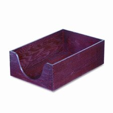 <strong>Carver Wood Products, INC.</strong> Hardwood Legal Stackable Desk Tray, Mahogany