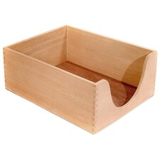 "<strong>Carver Wood Products, INC.</strong> Desk Tray, Wood, 5"" Deep, Letter, Oak"