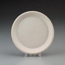 Round Savaday Molded Fiber Plates in White
