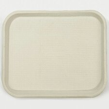 Savaday Molded Fiber Food Rectangular Trays in White