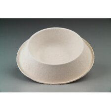 Savaday Molded Fiber Round Bowls in White