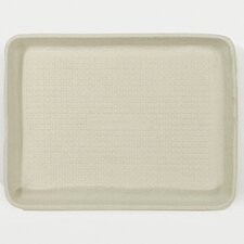StrongHolder Molded Fiber Rectangular Food Trays in Beige