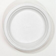 "6.75"" Round Classic Paper Plates in White"