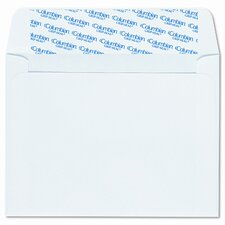 Invitation Envelopes with Grip-Seal, 4-3/8x5-3/4, White, 100/box