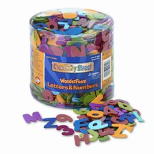 Wonderfoam Letters and Numbers, 1/2-Lb. Tub, Approx. 1,500 Pieces