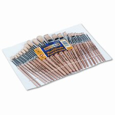 <strong>Creativity Street®</strong> Natural Bristle Preschool Brushes, Hardwood Handles, Assorted Sizes, 24 per Set