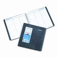 Weekly Appointment Book, Ruled, 8 x 8-1/2, Black, 2015