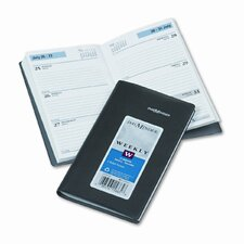 Weekly Appointment Book, Ruled without Appointment Times, 3-1/2 x 6-3/16, Black, 2015