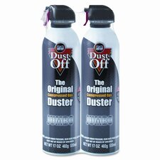 Disposable Compressed Gas Duster, Two 17oz Cans per Pack
