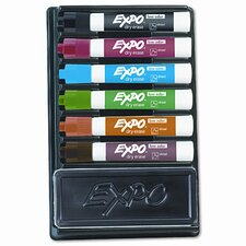 <strong>EXPO®</strong> Dry Erase Marker & Organizer Kit, Chisel Tip, Assorted, 6/Set