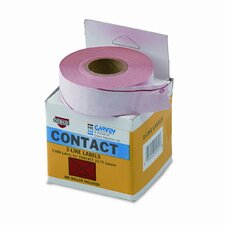 Two-Line Pricemarker Labels, 5/8 x 13/16, Fluorescent Red, 1000/Roll, 3 Rls/Box