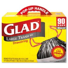 <strong>Glad</strong> Drawstring Outdoor Trash Bags in Black