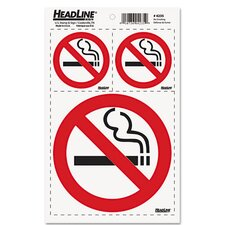 <strong>Headline Signs®</strong> Self-Stick No Smoking Combo Decal