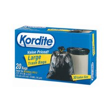 30 Gallon Kordite Large Trash Bag 20/box