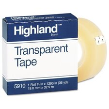 "Transparent Tape, 3/4"" X 1296"", 1"" Core"