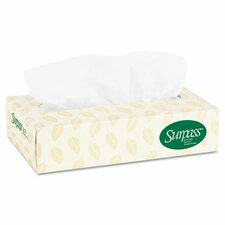 Kimberly-Clark Professional Surpass Fiber 2-Ply Facial Tissues - 125 Tissues per Box / 60 Boxes
