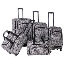 Brick Wall 5 Piece Luggage Set