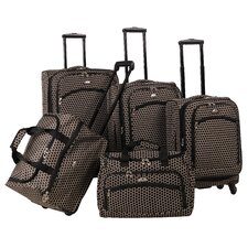 Small Dots 5 Piece Luggage Set