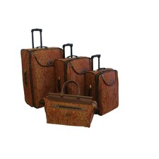 <strong>American Flyer</strong> Paisley Gold 4 Piece Luggage Set