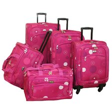 <strong>American Flyer</strong> Fireworks 5 Piece Spinner Luggage Set