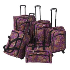 Paisley 5 Piece Luggage Set